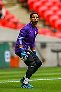 Manchester City goalkeeper Claudio Bravo (1) warms up during the FA Community Shield match between Manchester City and Liverpool at Wembley Stadium, London, England on 4 August 2019.