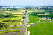 Nederland, Zuid-Holland, Rotterdam, 10-06-2015; Duifpolder en Polder Vockestaert, tussen Vlaardingen en Delft (Midden-Delfland). Vlaardingervaart richting Schipluiden.<br /> Polder near Delft and Rotterdam. <br /> <br /> luchtfoto (toeslag op standard tarieven);<br /> aerial photo (additional fee required);<br /> copyright foto/photo Siebe Swart