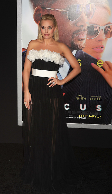 Margot Robbie, Warner Bros Pictures presents the Los Angeles World Premiere of 'Focus', at the TCL Chinese Theatre, February 24, 2015 - Hollywood, California. EXPA Pictures &copy; 2015, PhotoCredit: EXPA/ Photoshot/ Celebrity Photo<br /> <br /> *****ATTENTION - for AUT, SLO, CRO, SRB, BIH, MAZ only*****