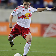 Connor Lade, Red Bulls, in action during the New York Red Bulls V D.C. United Major League Soccer, Eastern Conference Semi Final 2nd Leg match at Red Bull Arena, Harrison. New Jersey. USA. 8th November 2012. Photo Tim Clayton
