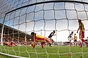17th February 2018, Firhill Stadium, Glasgow, Scotland; Scottish Premier League Football, Partick Thistle versus Dundee; Despair for Partick Thistle  after Simon Murray of Dundee headed home for 2-1 in the 90th minute