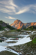 Yellow Aster Butte Basin. American Border Peak is in the distance. Mount Baker Wilderness, North Cascades Washington