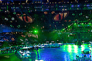 Technical rehearsal of the openings ceremony of the Olympic Games in London.