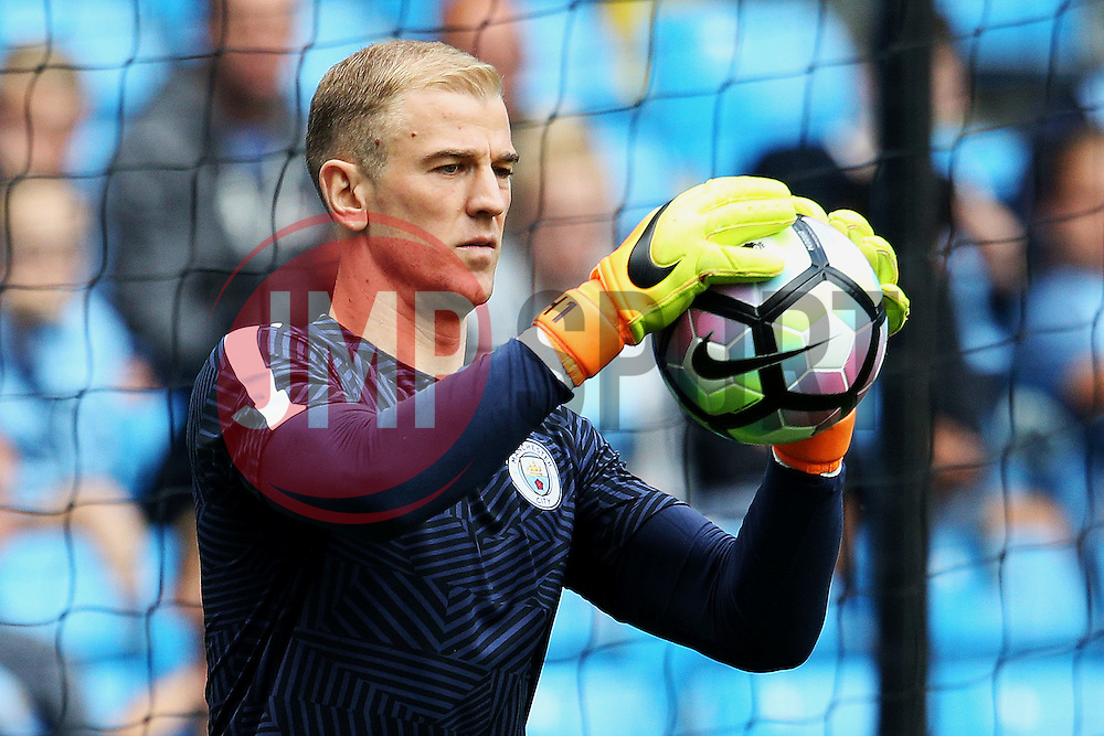 Joe Hart of Manchester City warms up - Mandatory by-line: Matt McNulty/JMP - 13/08/2016 - FOOTBALL - Etihad Stadium - Manchester, England - Manchester City v Sunderland - Premier League