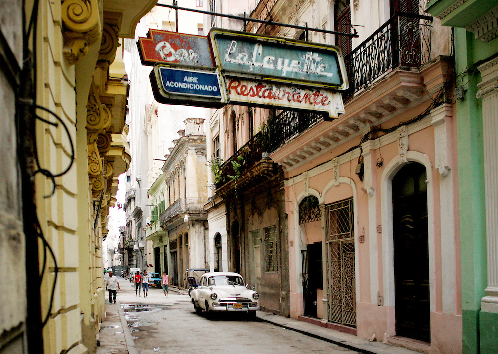 A street scene in Old Havana, Cuba.<br />