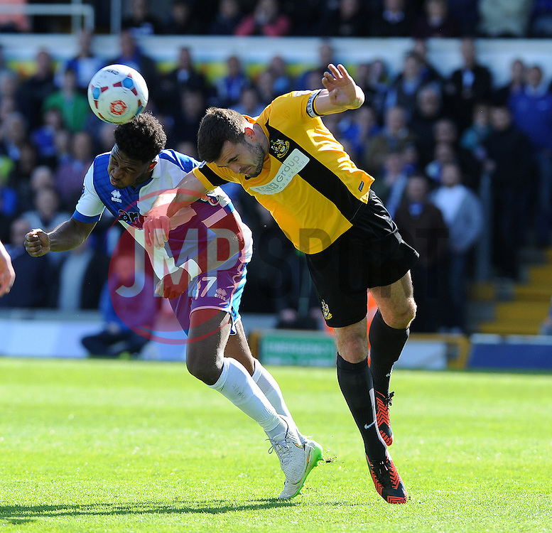 Bristol Rovers' Ellis Harrison is challenged by Southport's Luke George - Photo mandatory by-line: Neil Brookman/JMP - Mobile: 07966 386802 - 11/04/2015 - SPORT - Football - Bristol - Memorial Stadium - Bristol Rovers v Southport - Vanarama Football Conference
