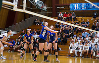 Interlaker versus Nute NHIAA Division III volleyball at PSU.  Karen Bobotas/for the Laconia Daily Sun