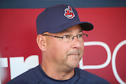 ANAHEIM, CA - APRIL 30:  Manager Terry Francona #17 of the Cleveland Indians talks to the media before the game against the Los Angeles Angels of Anaheim at Angel Stadium on Wednesday, April 30, 2014 in Anaheim, California. The Angels won the game 7-1. (Photo by Paul Spinelli/MLB Photos via Getty Images) *** Local Caption *** Terry Francona