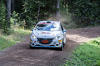 2019-09-07 | Linköping, Sweden: William Binbach / Robin Hallman during East Rally Sweden / Rally SM  at Linköping ( Photo by: Simon Holmgren | Swe Press Photo )<br /> <br /> Keywords: Linköping, Linköping, Rally, East Rally Sweden / Rally SM, ,