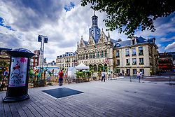 The summer beach festival in Saint-Quentin, France in full swing.  It is unuaual because Saint-Quentin is more than one hundred miles from the sea!<br /> <br /> (c) Andrew Wilson | Edinburgh Elite media