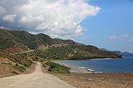 The south coast road from Santiago de Cuba to Pilon.