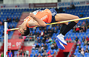 Majd Eddin Ghazal (SYR) places third in the high jump at 7-4 1/2 (2.25m) during the 57th Ostrava Golden Spike track and field meeting in a IAAF World Challenge event at Mestsky Stadium in Ostrava, Czech Republic, Wednesday, June 13, 2018. (Jiro Mochizuki/Image of Sport)