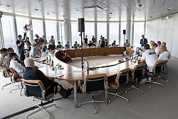 06.06.2017, Uniqa Tower, Wien, AUT, ÖHB, Pressekonferenz, im Bild der Presseraum mit den anwesenden Journalisten // during a press conference of the Austrian Handball Association at the Uniqa Tower, Vienna, Austria on 2017/06/06 . EXPA Pictures © 2017, PhotoCredit: EXPA/ Sebastian Pucher