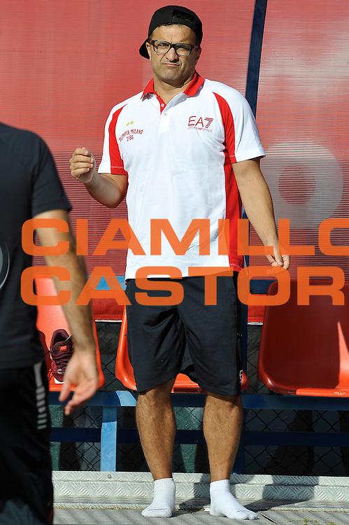 Giustino Danesi <br /> EA7 Emporio Armani Olimpia Milano allenamento <br /> Lega Basket Serie A 2016/2017<br /> Bormio 31/08/2016<br /> Foto Ciamillo-Castoria