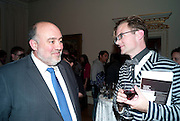 H.E. RON PROSOR The Israeli ambassador; PETER HARRAP;, No New Thing Under the Sun. Royal Academy. Piccadilly. London. 20 OCTOBER 2010. -DO NOT ARCHIVE-© Copyright Photograph by Dafydd Jones. 248 Clapham Rd. London SW9 0PZ. Tel 0207 820 0771. www.dafjones.com.