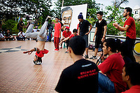 Aceh Youth Forum encourages Aceh's youth to bring positive social changes, through creativity in art, music and dance, at their third official show, in Banda Aceh, Indonesia, on Monday, Nov. 16, 2009. Not since political demonstrations of the three-decade war has there been a positive gathering of dedicated to the future peace of the region.