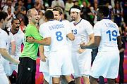DESCRIZIONE : Handball Jeux Olympiques Londres Quart de Finale<br /> GIOCATORE : FRA<br /> SQUADRA : France Homme<br /> EVENTO : FRANCE Handball Jeux Olympiques<br /> GARA : France Espagne<br /> DATA : 08 08 2012<br /> CATEGORIA : handball Jeux Olympiques<br /> SPORT : HANDBALL<br /> AUTORE : JF Molliere <br /> Galleria : France JEUX OLYMPIQUES 2012 Action<br /> Fotonotizia : France Handball Homme Jeux Olympiques Londres Quart de Finale Basketball Arena<br /> Predefinita :