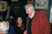 FLORA HUGHES-ONSLOW; STANLEY JOHNSON, launch of The Necessity of Poverty by John Bird published by Quartet. Gerry's Club, 52 Dean Street, London, 18 December 2012.