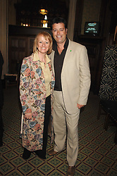 Actress VICKY ALCOCK and NIC GOODEY at a reception for the third NSPCC Hall of Fame Awards Ceremony in the Members Dining Room, The House of Commons, London on 15th May 2007.<br /><br />NON EXCLUSIVE - WORLD RIGHTS