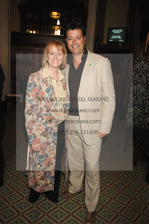 Actress VICKY ALCOCK and NIC GOODEY at a reception for the third NSPCC Hall of Fame Awards Ceremony in the Members Dining Room, The House of Commons, London on 15th May 2007.<br />