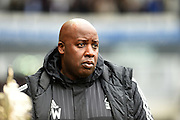 Nottingham Forest head coach Paul Williams during the Sky Bet Championship match between Derby County and Nottingham Forest at the iPro Stadium, Derby, England on 19 March 2016. Photo by Jon Hobley.