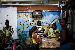 At a street market in Belize City, Belize