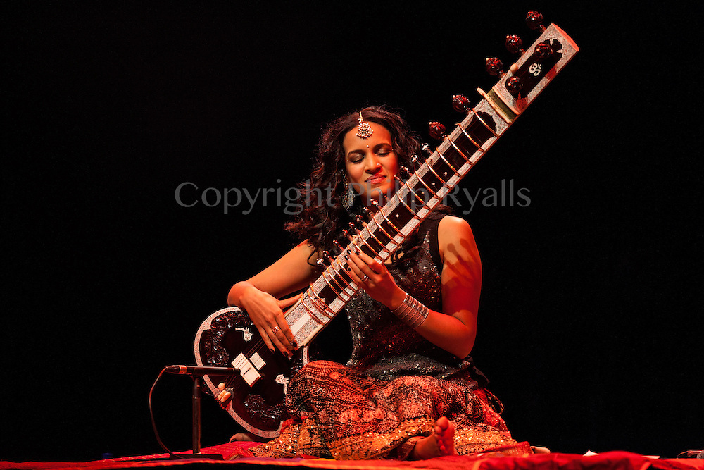 LONDON, UK - NOVEMBER 23: Anoushka Shankar performing on stage at the Barbican on November 23rd, 2012 in London, United Kingdom. (Photo by Philip Ryalls/WireImage)**Anoushka Shankar