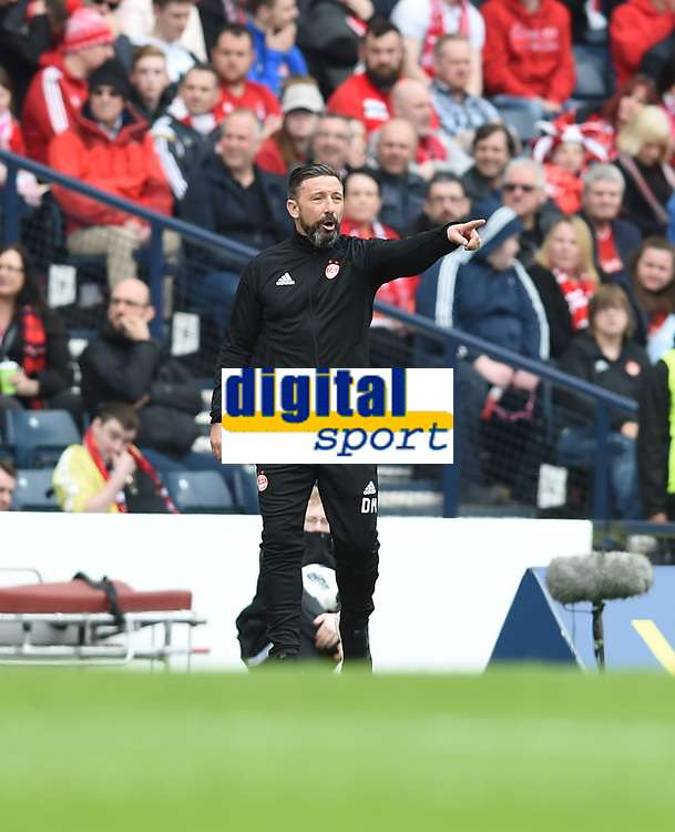 Football - 2017 / 2018 William Hill Scottish Cup (SFA) - Semi-Final: Motherwell vs. Aberdeen<br /> <br /> Aberdeen Manager Derek McInnes at Hampden Park.<br /> <br /> COLORSPORT