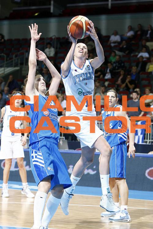 DESCRIZIONE : Riga Latvia Lettonia Eurobasket Women 2009 Semifinal 5th-6th Place Italia Grecia Italy Greece<br /> GIOCATORE : Laura Macchi<br /> SQUADRA : Italia Italy<br /> EVENTO : Eurobasket Women 2009 Campionati Europei Donne 2009 <br /> GARA : Italia Grecia Italy Greece<br /> DATA : 20/06/2009 <br /> CATEGORIA : tiro<br /> SPORT : Pallacanestro <br /> AUTORE : Agenzia Ciamillo-Castoria/E.Castoria<br /> Galleria : Eurobasket Women 2009 <br /> Fotonotizia : Riga Latvia Lettonia Eurobasket Women 2009 Semifinal 5th-6th Place Italia Grecia Italy Greece<br /> Predefinita :