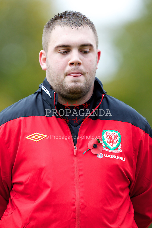 BANGOR, WALES - Thursday, November 8, 2012: Wales' goalkeeper Andrew Parry before the International Learning Disability Fixture against Northern Ireland at the Nantporth Stadium. (Pic by Vegard Grott/Propaganda)