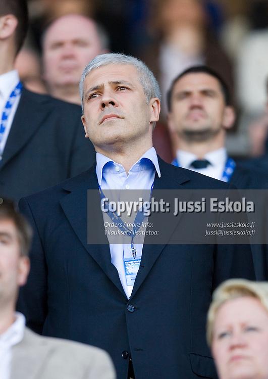 Serbian presidentti Boris Tadic. Suomi-Serbia, EM-karsinta, Olympiastadion. Helsinki 2.6.2007. Photo: Jussi Eskola