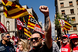 May 1, 2019 - Barcelona, Catalonia, Spain - Workers march during  May Day rally in the center of Barcelona. (Credit Image: © Jordi Boixareu/ZUMA Wire)
