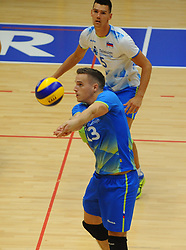 Jani Kovacic of Slovenia during friendly volleyball match between National teams of Serbia and Slovenia, on August 18, 2017, in Belgrade, Serbia. Photo by Nebojsa Parausic / MN press / Sportida
