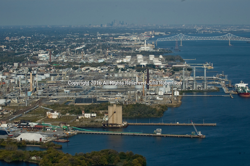 Aerial view of Sun Oil Refinery in Chester PA