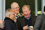 Derby County Manager Steve McClaren meets Burton Albion chairman Ben Robinson during the EFL Sky Bet Championship match between Burton Albion and Nottingham Forest at the Pirelli Stadium, Burton upon Trent, England on 11 March 2017. Photo by Richard Holmes.