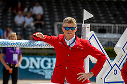 KUEHNER Max (AUT)<br /> Rotterdam - Europameisterschaft Dressur, Springen und Para-Dressur 2019<br /> Parcoursbesichtigung<br /> Longines FEI Jumping European Championship - 1st part - speed competition against the clock<br /> 1. Runde Zeitspringen<br /> 21. August 2019<br /> © www.sportfotos-lafrentz.de/Stefan Lafrentz