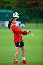 NEWPORT, WALES - Tuesday, June 5, 2018: Wales' Ffion Morgan during a training session at Dragon Park ahead of the FIFA Women's World Cup 2019 Qualifying Round Group 1 match against Bosnia and Herzegovina. (Pic by David Rawcliffe/Propaganda)