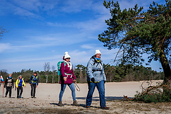 18-03-2018 NED: We hike to change diabetes, Soest<br /> Training voor de Camino 2018 op de Soesterduinen / Ellen, Ijda