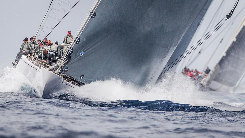 FRANCE, St Tropez. 30th September. Voiles de St Tropez. J Class, Race 2.