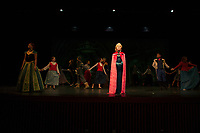 Dress rehearsal for Frozen with Gilford Middle School.     (Karen Bobotas/for the Laconia Daily Sun)