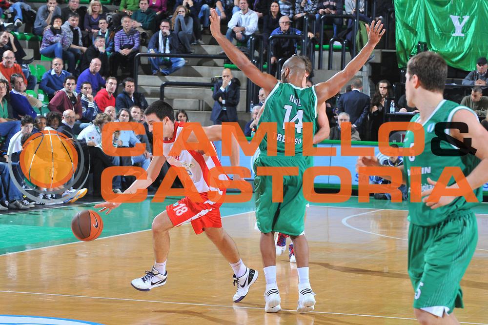 DESCRIZIONE : Treviso Eurocup 2009-10 Regular Season Benetton Gioco Digitale Crvena Zvezda<br /> GIOCATORE : Vuk Radivojevic<br /> SQUADRA : Crvena Zvezda<br /> EVENTO : Eurocup 2009 - 2010<br /> GARA : Benetton Gioco Digitale Crvena Zvezda<br /> DATA : 01/12/2009<br /> CATEGORIA : Palleggio<br /> SPORT : Pallacanestro<br /> AUTORE : Agenzia Ciamillo-Castoria/M.Gregolin<br /> Galleria : Eurocup 2009<br /> Fotonotizia : Berlino Eurocup 2009-10 Regular Season Benetton Gioco Digitale Crvena Zvezda<br /> Predefinita :