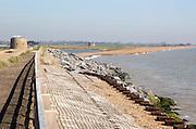 Sea defences North Sea coast, Bawdsey, Suffolk, England, UK