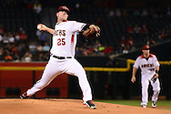 PHOENIX, AZ - JUNE 08:  Archie Bradley #25 of the Arizona Diamondbacks delivers a pitch in the first inning Tampa Bay Rays at Chase Field on June 8, 2016 in Phoenix, Arizona.  (Photo by Jennifer Stewart/Getty Images)