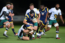 Andrew Kitchener of Worcester Cavaliers is challenged  - Mandatory by-line: Dougie Allward/JMP - 19/09/2016 - RUGBY - Sixways Stadium - Worcester, England - Worcester Cavaliers v Northampton Wanderers - Aviva A League