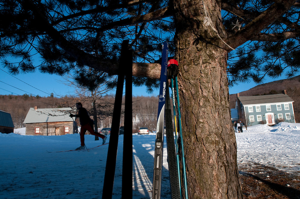 The Catamount Trail passes by The Blueberry Hill Inn and Cross Country Ski Center in Goshen, Vermont.