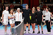 CORRECTION Anton du Beke, Helen Skelton, Jamie and Judy Murray during a celebrity doubles match at the Men's Finals Champions Tennis match at the Royal Albert Hall, London, United Kingdom on 9 December 2018. Picture by Ian Stephen.