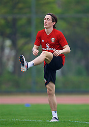 NANNING, CHINA - Sunday, March 25, 2018: Wales' Harry Wilson during a training session at the Guangxi Sports Centre ahead of the 2018 Gree China Cup International Football Championship final match against Uruguay. (Pic by David Rawcliffe/Propaganda)
