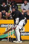 Matthew Bell bats.<br /> National Bank Test Match Series, New Zealand v England, Black Caps Nets Practice. Allied Prime Basin Reserve, New Zealand. Wednesday, 12 March 2008. Photo: Dave Lintott/PHOTOSPORT