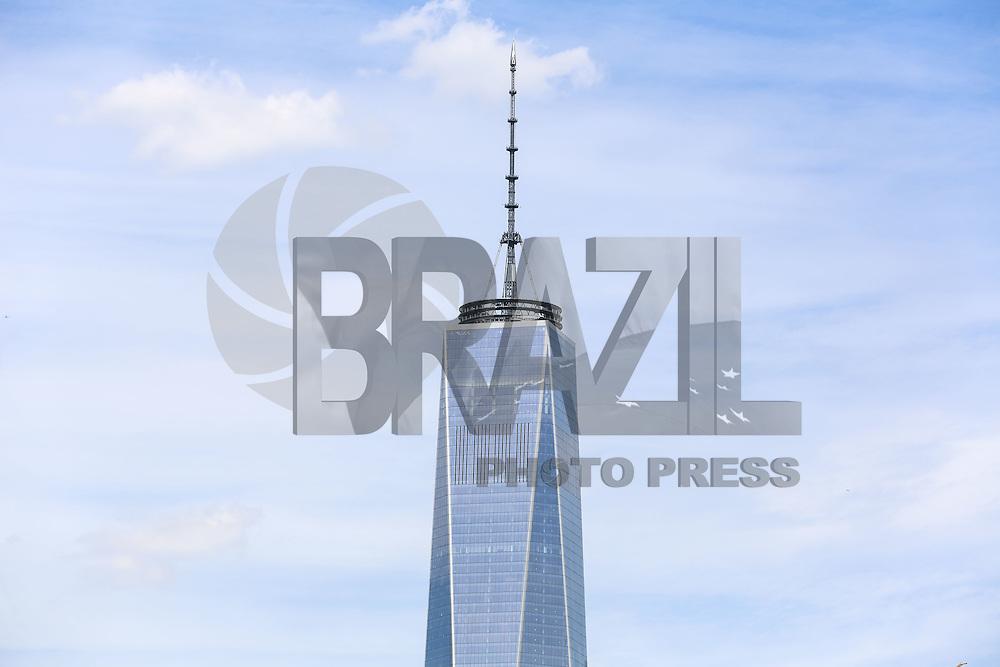 NOVA YORK, EUA, 13.08.2015 - TURISMO-NEW YORK -Vista do World Trade Center na ilha da Manhattan em Nova Iorque nos Estados Unidos nesta quinta-feira, 13.  (Foto: William Volcov/Brazil Photo Press/Folhapress)