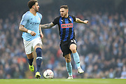 2 Kyle Walker for Manchester City and Rotherham United midfielder Jon Taylor (11) during the The FA Cup 3rd round match between Manchester City and Rotherham United at the Etihad Stadium, Manchester, England on 6 January 2019.